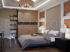 Спальня хозяев в стиле контемпорари